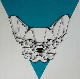 Cuadro MDF Bulldog Frances 30*30 cm