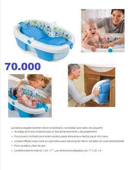 Bañera plegable para niño-a