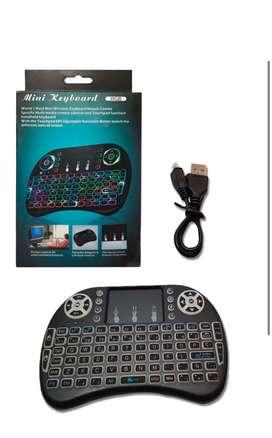 Mini teclado inalámbrico smart tv