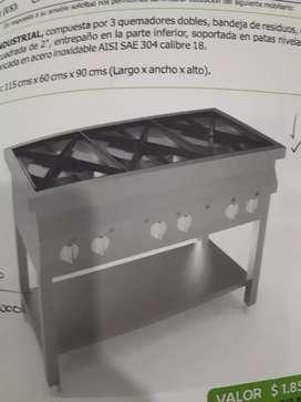 Estufa en acero inoxidable