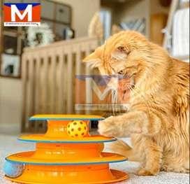 Juguetes Para Gatos Torre Con Pelotas