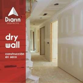 construcción en drywall, remodelación con drywall remodelación, división en drywall, casas, oficinas, cielo raso