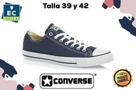 Zapatos caña baja talla 39 y 42 marca converse azul hombre y mujer