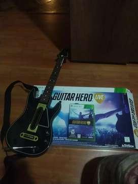 Guitar Hero live para Xbox 360 con guitarra