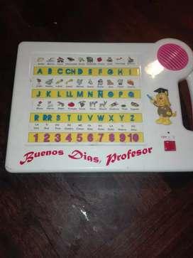 Juego a pilas para aprender las letras, los numeros y las cuentas, con sonido $500