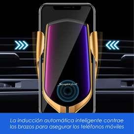 Cargador Inalámbrico Smart Sensor Para Autos 10-15w, Sensor Inteligente