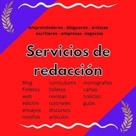 Servicios de Redacción│Propuesta para emprendedores y Pymes y particulares