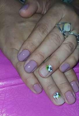 Manicure y pedicure natural limpieza dama o caballero