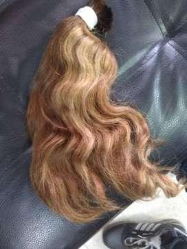Vendo cabello para extensiones solo a sido tinturado una vez y es muy fino