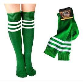 Medias Deportivas Verdes Unisex Fútbol Calcetines Calidad