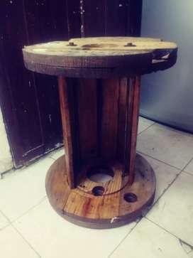 Bobina o Carretel de Madera se puede usar como Mesa