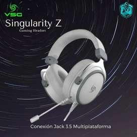 Audífono Gamer VSG Singularity Z White