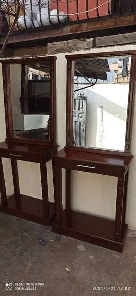 Recibidor con espejo 1.65 de alto 70 de ancho