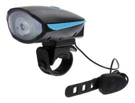 Linterna LED para bicicleta con bocina Recargable 250 Lumines