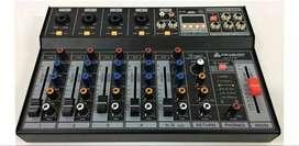 Consola Mezcladora Italy Audio Qxt P6 De 6 Canales Usb Mp3