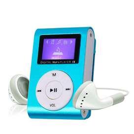 Mp3 mini Con Audifonos Soporta 32gb fm azul megarickhunter segunda mano  Perú