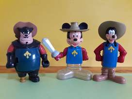 Art 29 Lote Pedro, Goofy y Mickey Mouse Disney Los Tres Mosqueteros Mc Donalds