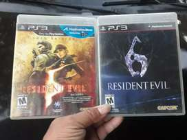 Resident evil ps3  5 y 6 $25