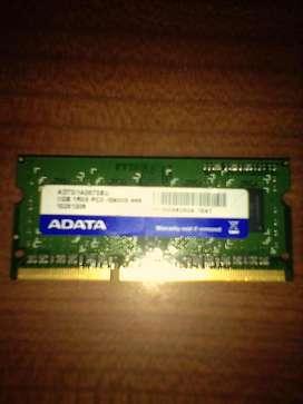 RAM DDR3 sodim 1 Giga NET/notebook