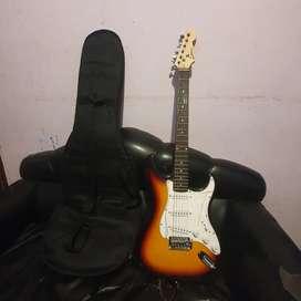 Vendo guitarra eléctrica con todos sus respectivas cosas.