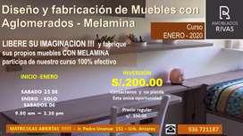 CURSOS DE MELAMINA - HAZ TUS SUEÑOS REALIDAD DISEÑANDO Y FABRICANDO SUS PROPIOS MUEBLES
