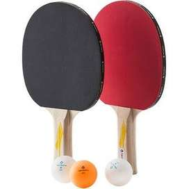 Kit de Raquetas Tenis de Mesa Pelotas de Juego