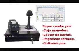 Combo Pos Sat Cajon + Impresora + Lector + Software Pos