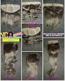 Frontales pelucas y Extensiones de cabello Humano
