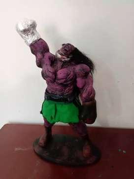 Escultura de boxeador estilo punch out!