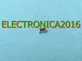 100x Resistencia 222 Smd 0805 2.2k Ohm Superficial 2mmx1.2mm
