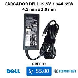 CARGADOR DELL 19.5V 3.34A 65W Punta Delgada