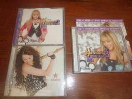 3 cajas CD musica Hannah Montana  Miley Cyrus