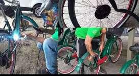Se hace trabajo de soldadura a bicicletas y se soldan pibos