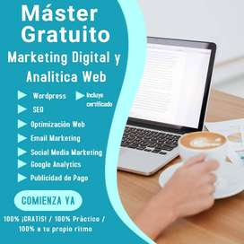 Máster GRATUITO de Marketing digital y Analitica web