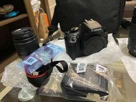 Canon EOS Rebel T6 DSLR Camara con 18-55mm y 75-300mm Lenses Kit