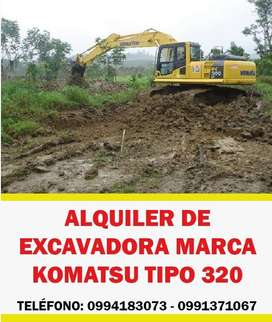 ALQUILER DE EXCAVADORA MARCA KOMATSU