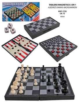 Ajedrez Magnetico 3 En 1 Damas Y Backgammon OFERTA
