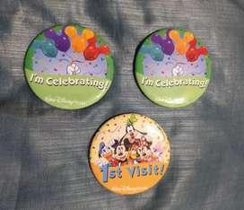 3 Prendedores souvenir. Walt Disney World
