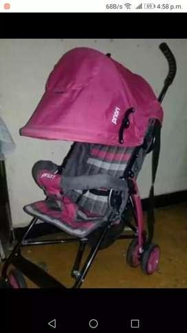 Asoleador  rosado con gris