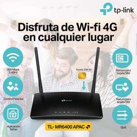 Router 4G TPLINK MR6400 APAC - Solo pones tu chip
