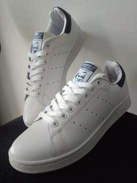 Adidas StanSmith UNISEX Blanco-Azul 38