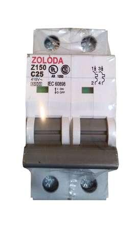 Interruptor Termomagnetico Bipolar 25a Zoloda Z150