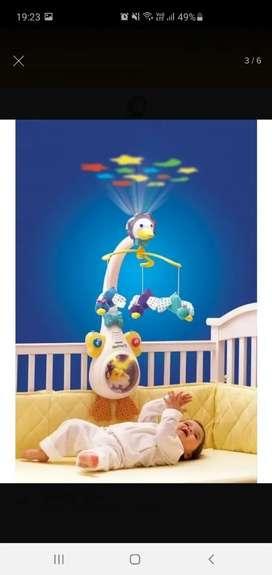 Móvil cunero proyector de cuna bebé Pata Vtech