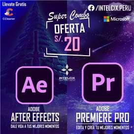 En tu Setup no debe de Faltar After Effects y Premiere Pro lo mejor para el mejor