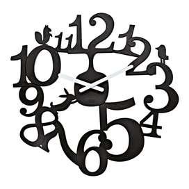 Koziol Reloj de Pared Pi:P Negro Mate, comics