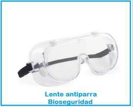 lente antiparra tipo goggles