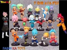 Figura Muñeco Set Anime Dragon Ball Super 16 Piezas Torneo del Poder