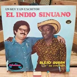 Long Play Lp Dísco Acetato Pasta Vinyl Alejo Duran El Indio Sinuano