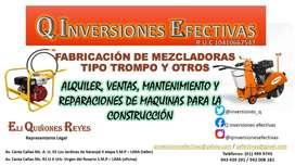 VENTA, ALQUILER, REPARACIÓN Y MANTENIMIENTO DE EQUIPOS PARA LA CONSTRU