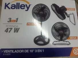 Ventilador kalley 3 en 1